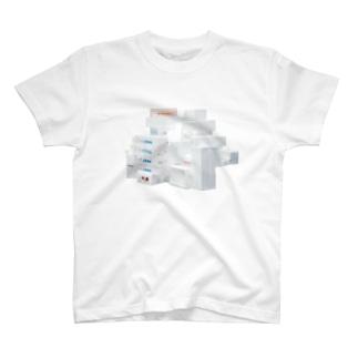 発泡スチロールの山 Tシャツ