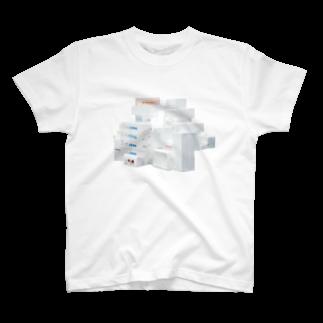 Yusuke SAITOHの発泡スチロールの山Tシャツ