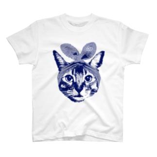 うさみみ猫 Tシャツ
