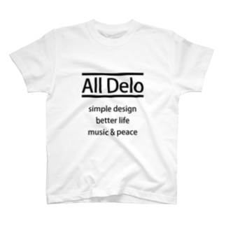 All Delo - better life Tシャツ