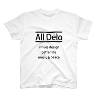 USS Official MerchのAll Delo - better life Tシャツ