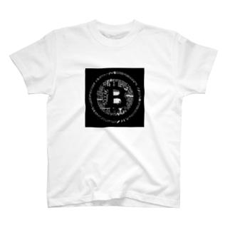 ブラックbitcoin Tシャツ
