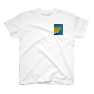 半分こ 黄色スイカ Tシャツ