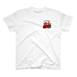 ロードスター馬鹿(クラシックレッド) Tシャツ