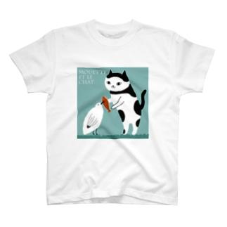 ねことかもめ Tシャツ