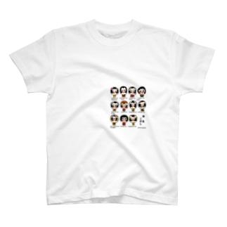 こけし大集合! Tシャツ