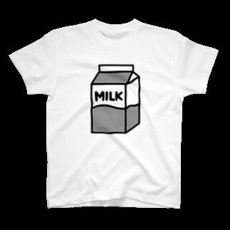 nikoの牛乳Tシャツ