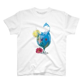 人魚のカプセルビーチ Tシャツ