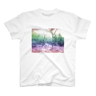 Colorful Photo(Snow Forest) Tシャツ