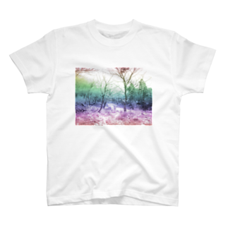 レオナのColorful Photo(Snow Forest)Tシャツ