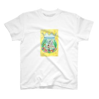 「金魚鉢の夢」 Tシャツ