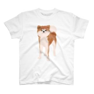 秋田犬【赤毛】 Tシャツ