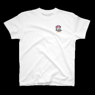 GRADUCAのPixelArt キノコおばけ Tシャツ