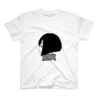 横顔 Tシャツ