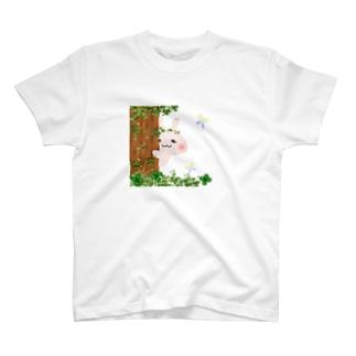 うさぎのぺっぺ 覗き見Ver Tシャツ