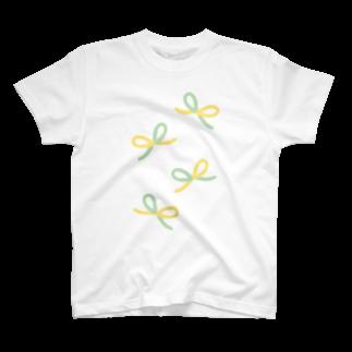 creocordensのツイストリボン2Tシャツ
