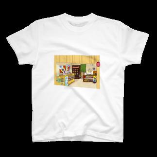 こんな家の駄菓子屋さんTシャツ