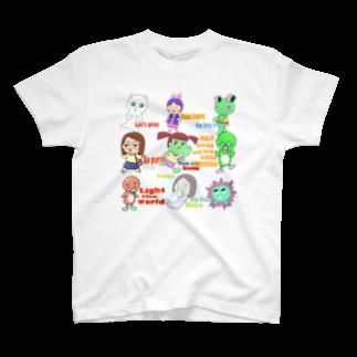 ガウ子ショップのガウ子ランド全員Tシャツ