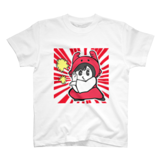 カニ巫女のしゅわっちカニ巫女Tシャツ