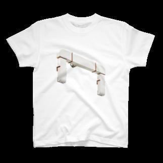 Yusuke SAITOHの白いダクトTシャツ