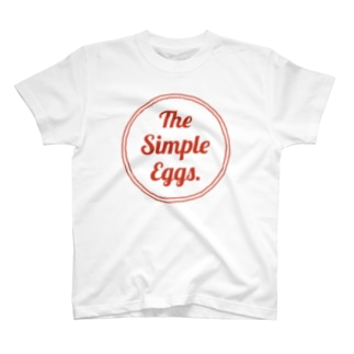 The Simple Eggs. アカイロゴ Tシャツ