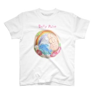 赤ちゃんとイルカ Tシャツ