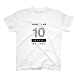 MORE THAN 10 DREAMS OF 2007(クジャク柄) Tシャツ