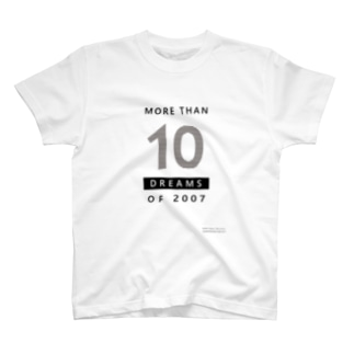 MORE THAN 10 DREAMS OF 2007(ボーダー柄) Tシャツ