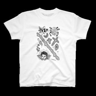 かおかけパンダのてんしなどTシャツ