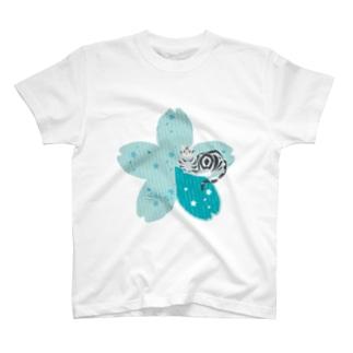 Sakura[LightBlue-American Shorthair] Tシャツ