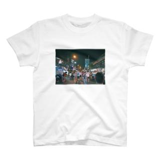 夜のカンボジア Tシャツ