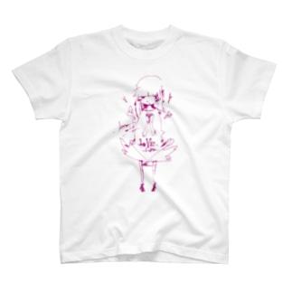 内気な女の子 Tシャツ