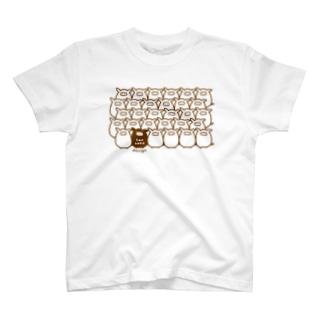 みっちりブタ Tシャツ