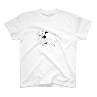 キャットとおもちゃ Tシャツ