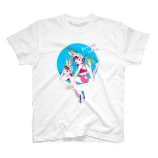 プールサイドバニー Tシャツ