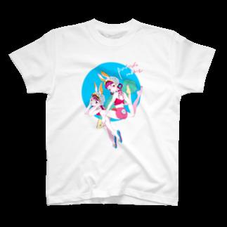 Crab_000のプールサイドバニーTシャツ