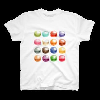 山田理矢のカラフルマカロン Tシャツ