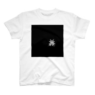 夜のお城 Tシャツ