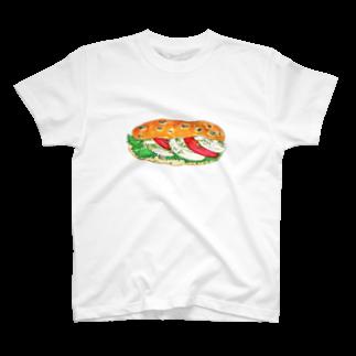 いしかわ みきのモッツァレラチーズサンドTシャツ