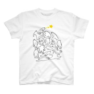かんがえごと(くろ) Tシャツ