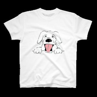 たぬき丸の館のひょっこり犬Tシャツ