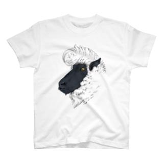リーゼント羊(サフォーク種) Tシャツ