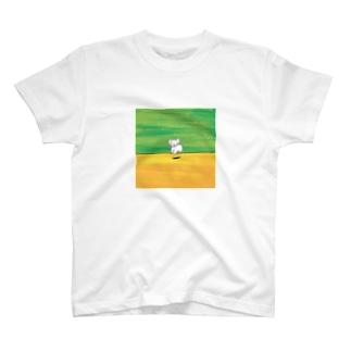 jamping dog Tシャツ