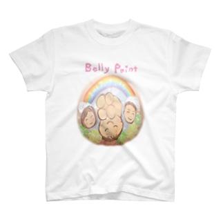 家族と虹 Tシャツ
