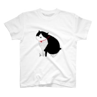 白黒にゃんこ Tシャツ