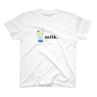 milk Tシャツ