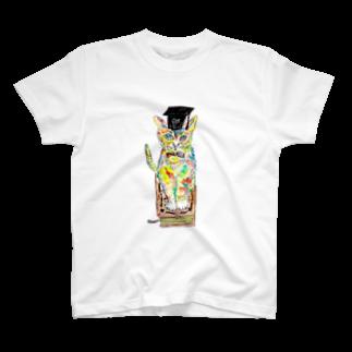 NobigaoのブックキャットTシャツ