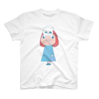 猫かぶり Tシャツ