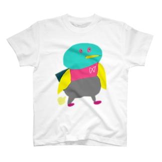 おならぷーぷとり Tシャツ