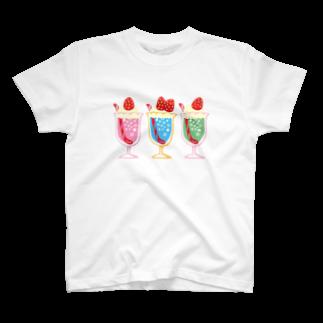 レモネードプールのストロベリークリームソーダTシャツ